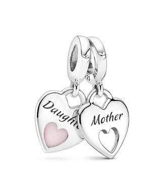 Pandora Mother & Daughter Split Heart 799187C01