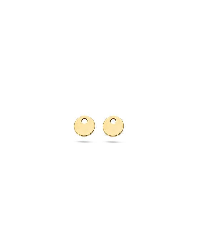 Blush oorbedels Rond 14kt 9055YGO
