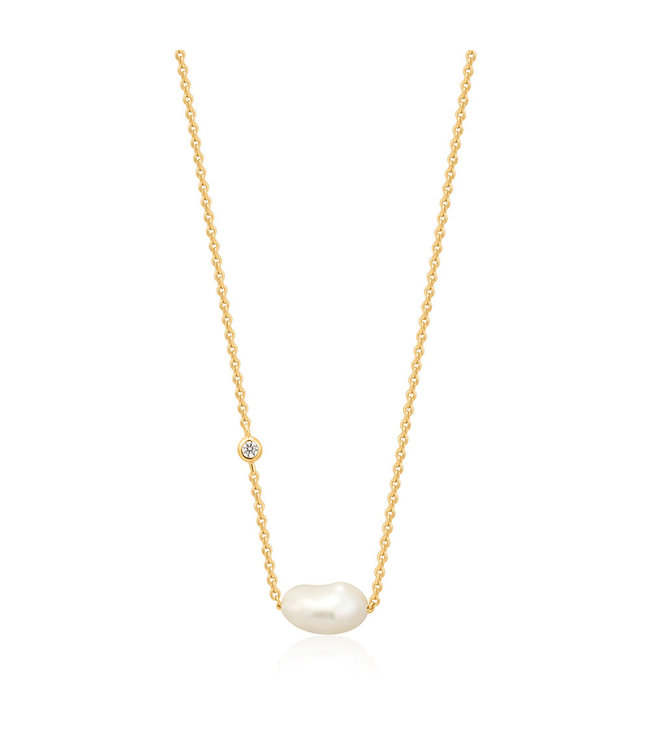 Ania Haie Pearl of Wisdom - Pearl necklace gold N019-02G