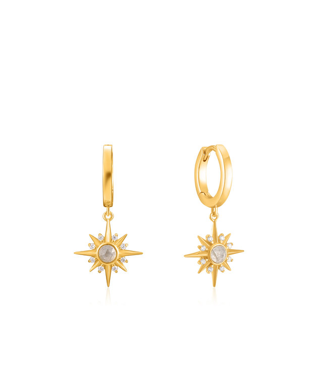 Ania Haie Midnight Fever - Midnight Star Huggie hoop earrings gold E026-04G