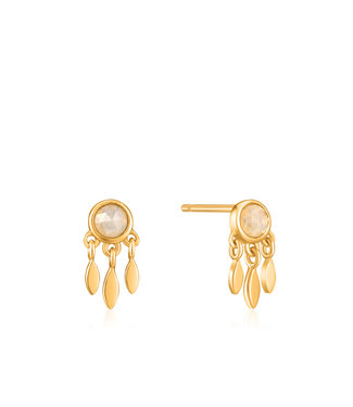 Ania Haie Midnight Fever - Midnight Fringe stud earrings gold E026-06G