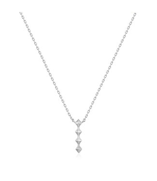 Ania Haie Spike It Up - Silver Spike drop necklace silver N025-01H