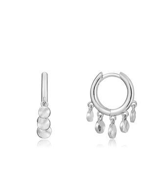 Ania Haie Ear We Go - Mini Disc Huggie hoops silver E023-03H