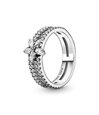 Pandora ring Non-Stackable Sparkling Snowflake 199236C01