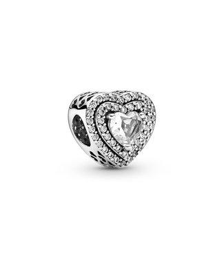 Pandora Sparkling Levelled Hearts 799218C01