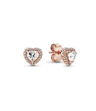 Pandora Sparkling Heart stud earrings rose 288427C01