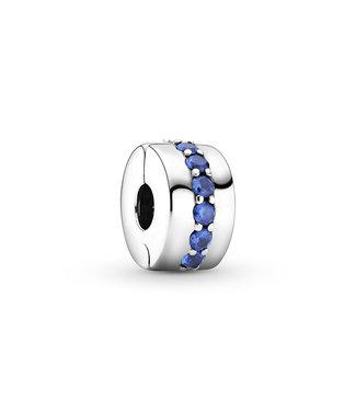 Pandora Blue Sparkle Clip 791972C01