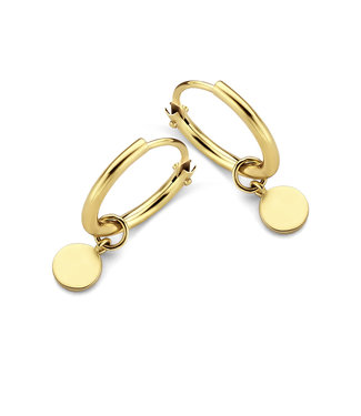 Lisamona Gold oorringen 14kt geelgoud Rond  G0148