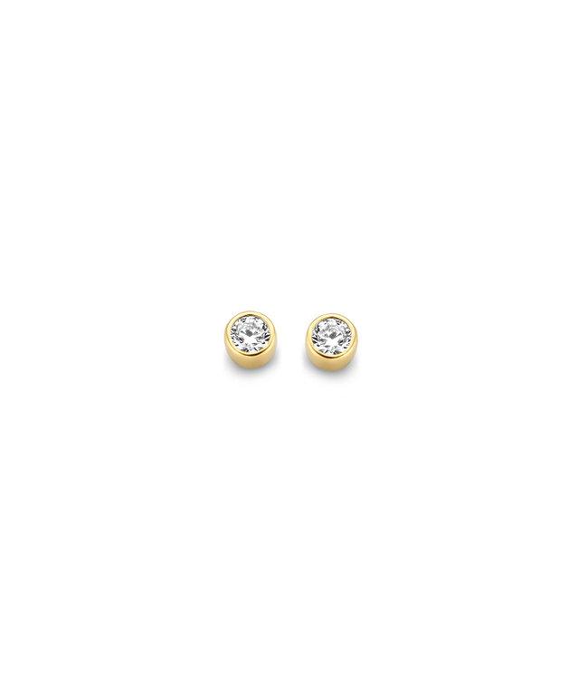 Lisamona Gold oorbellen 14kt rond G0167