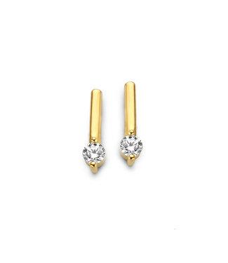 Lisamona Gold oorbellen 14kt Staafje G0158
