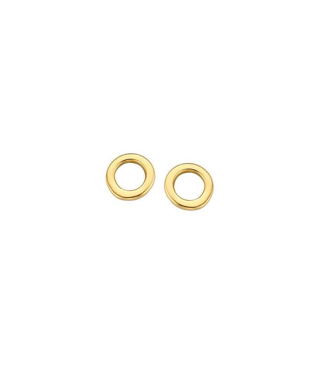 Lisamona Gold oorbellen 14kt Rond Open G0175