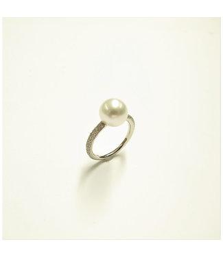 Gellner Pearls ring 18kt Parel Diamonds 5-22811-03