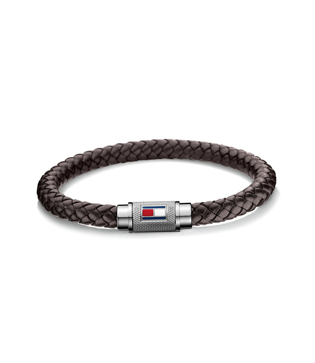 Tommy Hilfiger armband bruin gevlecht 2700998