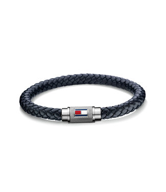 Tommy Hilfiger armband donkerblauw gevlech 2701000