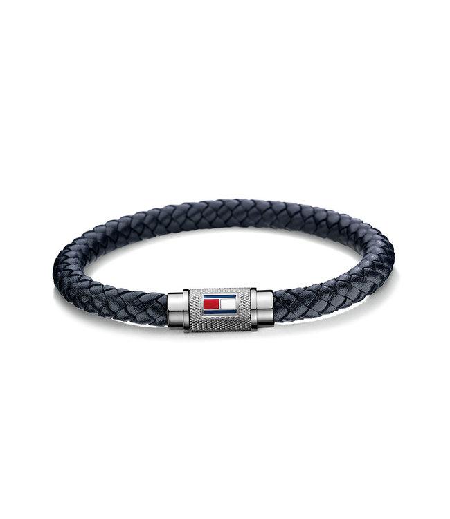 Tommy Hilfiger armband donkerblauw gevlecht 2701000