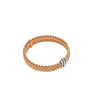 Fope armband Flex'It Panorama roosgoud bicolor 587B PAVES