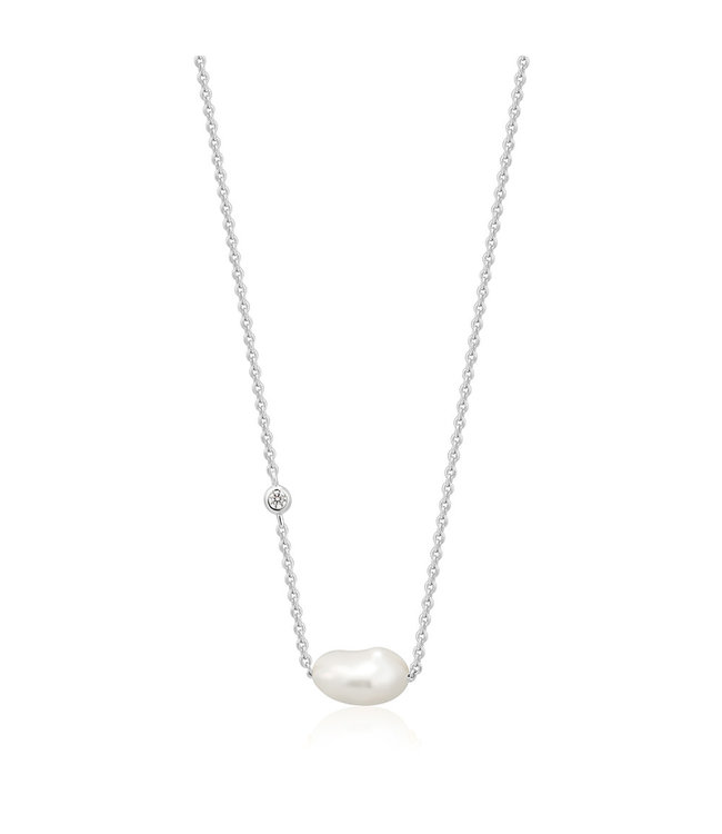 Ania Haie Pearl of Wisdom - Pearl necklace silver N019-02H