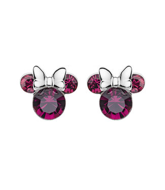 Disney oorbellen Disney Minnie Mouse Birthstone February E905162RFEBL