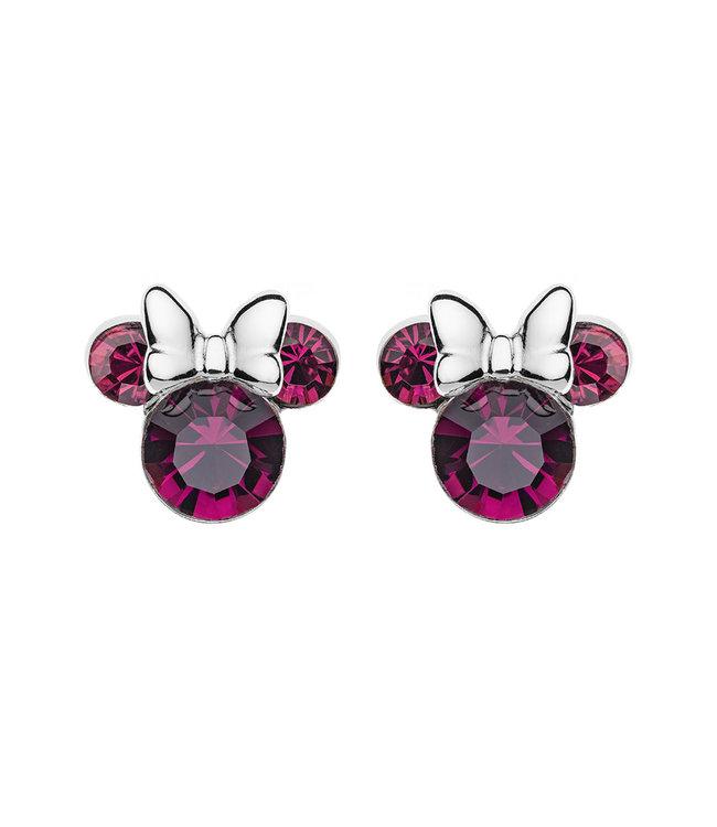 Disney oorbellen Disney Minnie Mouse Birthstone February E905162RFEBL
