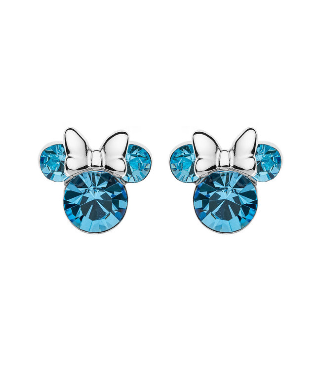 Disney oorbellen Disney Minnie Mouse Birthstone March E905162RMARL