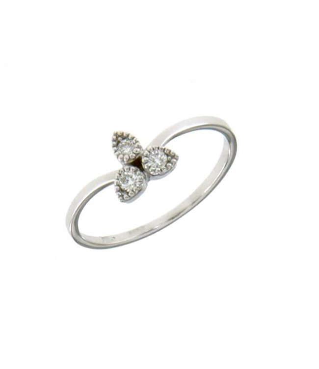Willems Creations ring 18kt witgoud D340 0.09ct