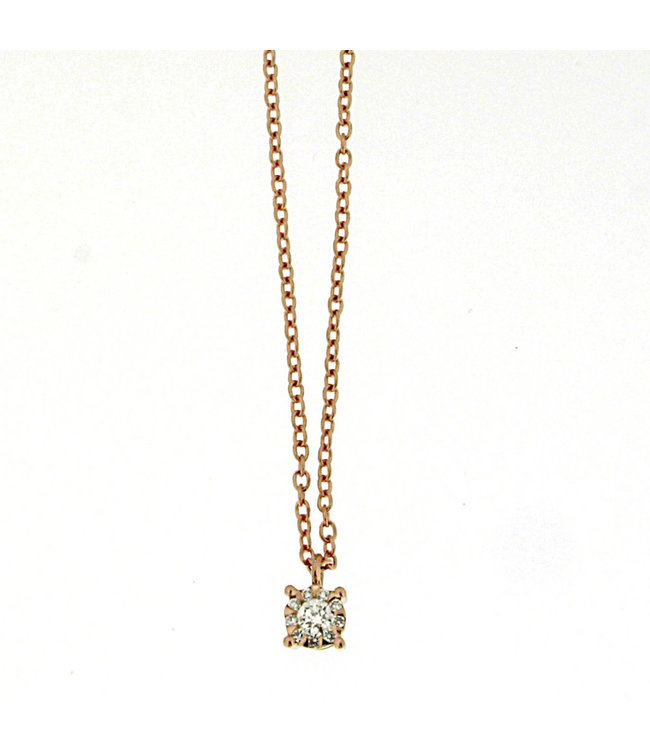 Willems Creations ketting 18kt roosgoud M4114GB5