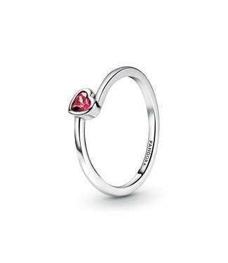Pandora Red Tilted Heart Solitaire ring 199267C01