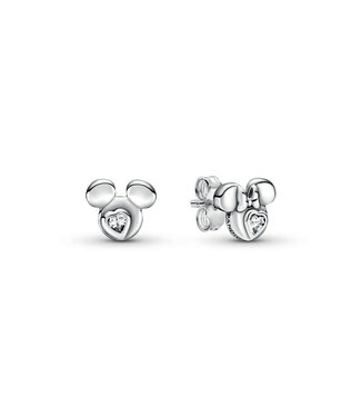 Pandora Disney, Mickey & Minnie Mouse Silhouette stud earrings 299258C01