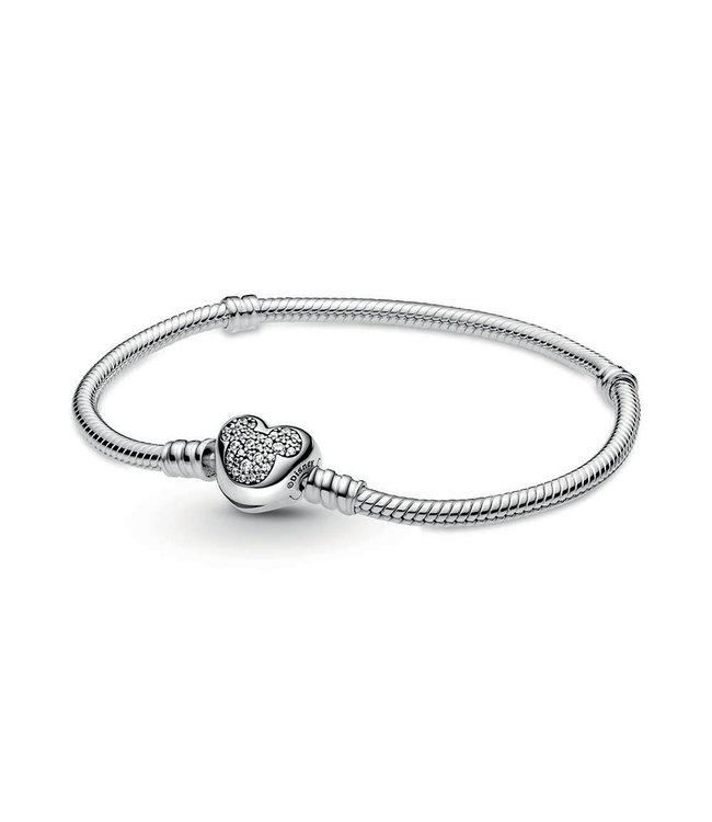 Pandora Disney, Mickey Mouse Heart Clasp bracelet 599299C01