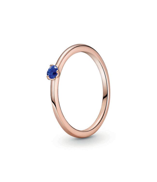 Pandora Stellar Blue Solitaire stackable ring 189259C04
