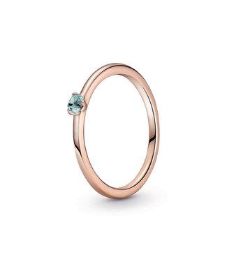 Pandora Light Blue Solitaire stackable ring 189259C02