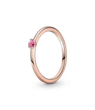 Pandora Pink Solitaire stackable ring 189259C03