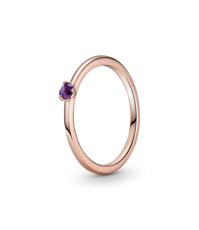 Pandora Purple Solitaire stackable ring 189259C06