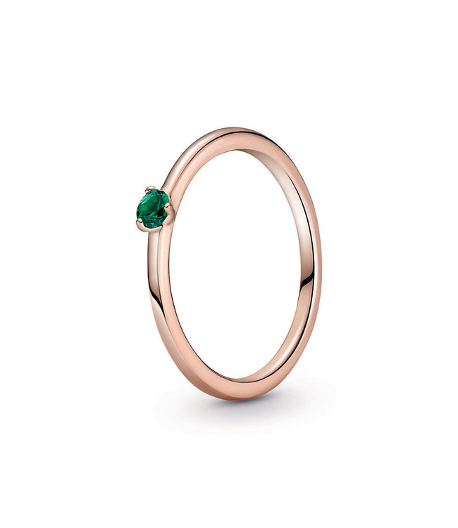 Pandora Green Solitaire stackable ring 189259C05