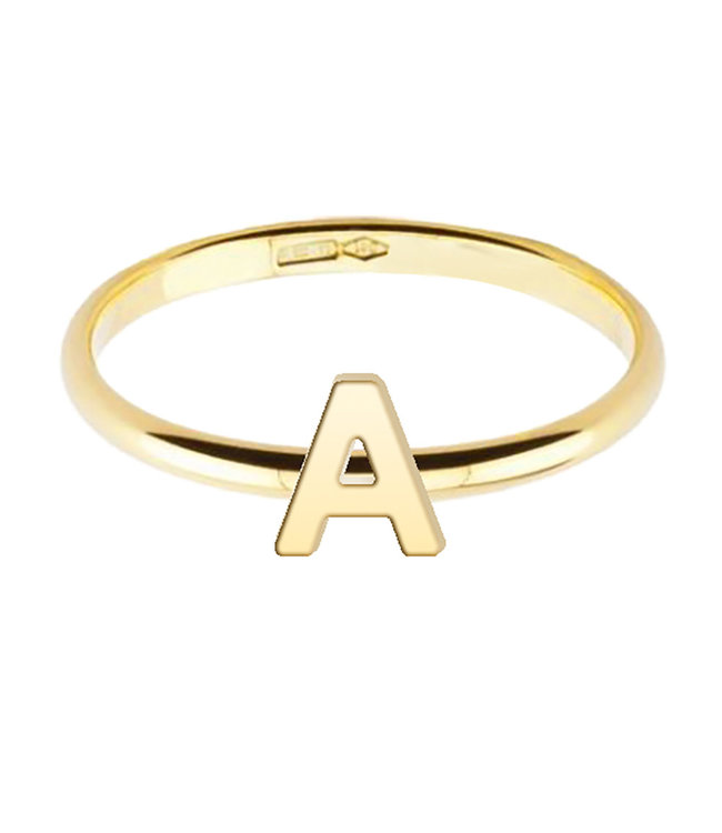 Willems Creations ring 18kt geelgoud Letter 755400EG