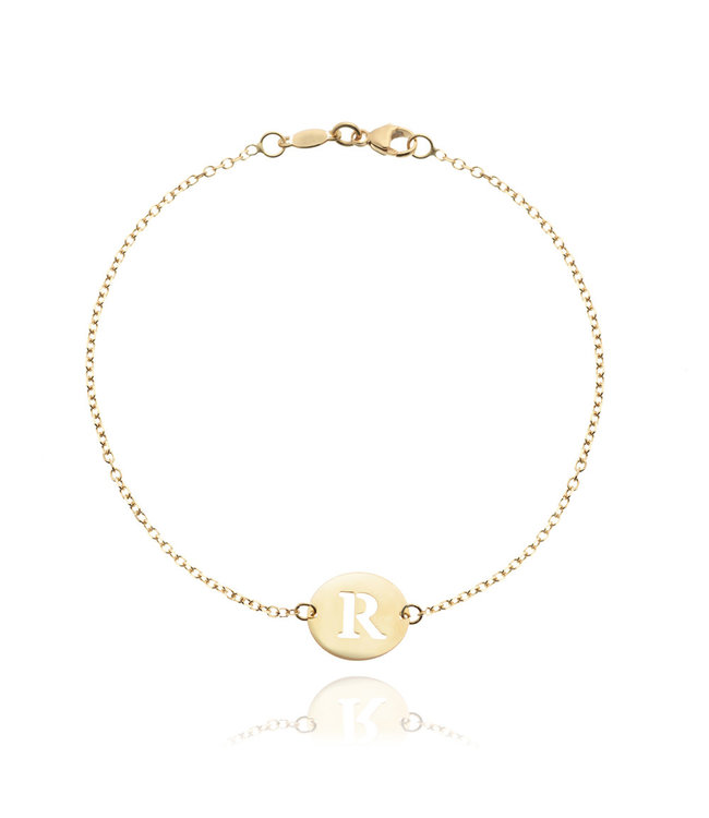 Willems Creations armband 18kt geelgoud Letter 759085EG