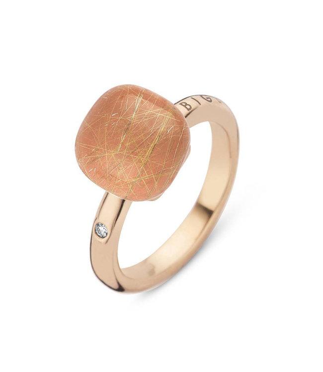 Bigli ring Mini Sweety Maansteen met gouddraad 20R88Rrutadoran