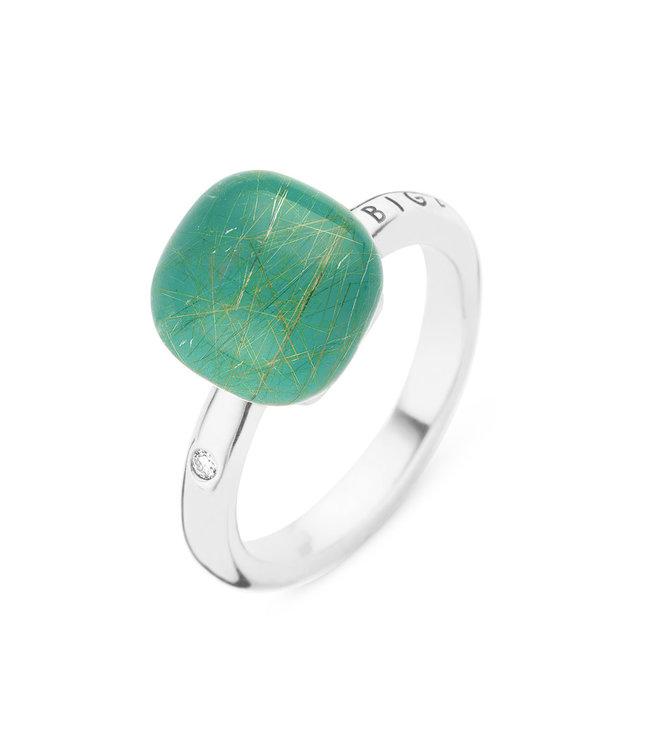 Bigli ring Mini Sweety Smaragd  met gouddraad  20R88Wrutsmermp