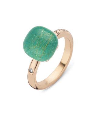 Bigli ring Mini Sweety Smaragd met gouddraad 20R88Rrutsmermp