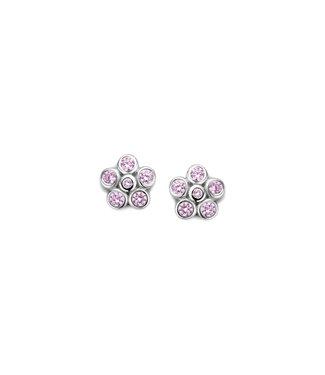 Orage Kids & Teenz oorbellen Roze bloem O/4886