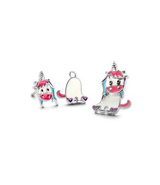 Orage Kids & Teenz oorbellen Eenhoorn wit/roze O/3548
