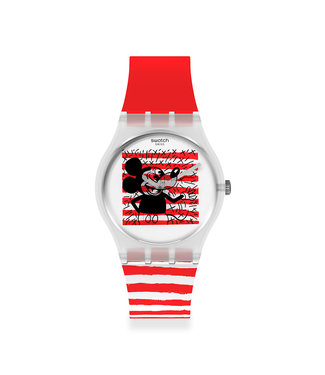 Swatch Mouse Marinière - Keith Haring GZ352