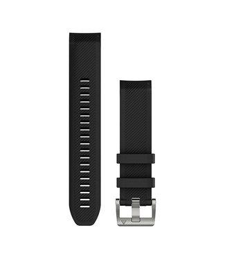 Garmin Marq Quickfit 22 watch strap Marq Black Silicone 010-12738-05