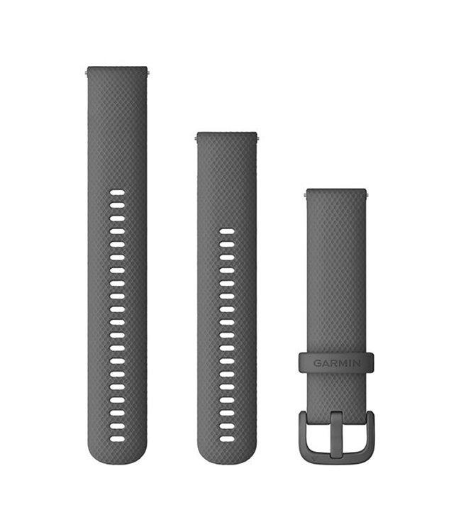 Garmin 20 mm band, silicone, Shadow Gray 010-13021-00