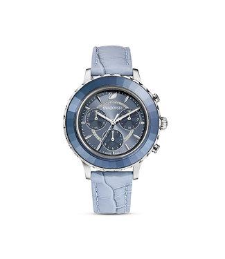 Swarovski Octea Lux Chrono LS BLu/Blu/STS dames horloge 5580600