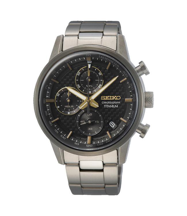 Seiko New Link Chronograph Titanium heren horloge SSB391P1