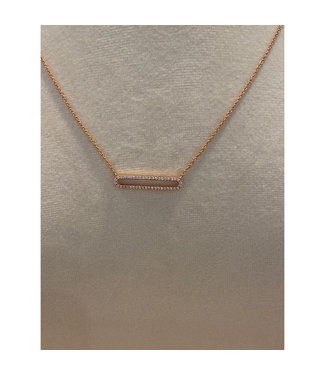 Willems Creations ketting 18kt roosgoud 4B028R8-1