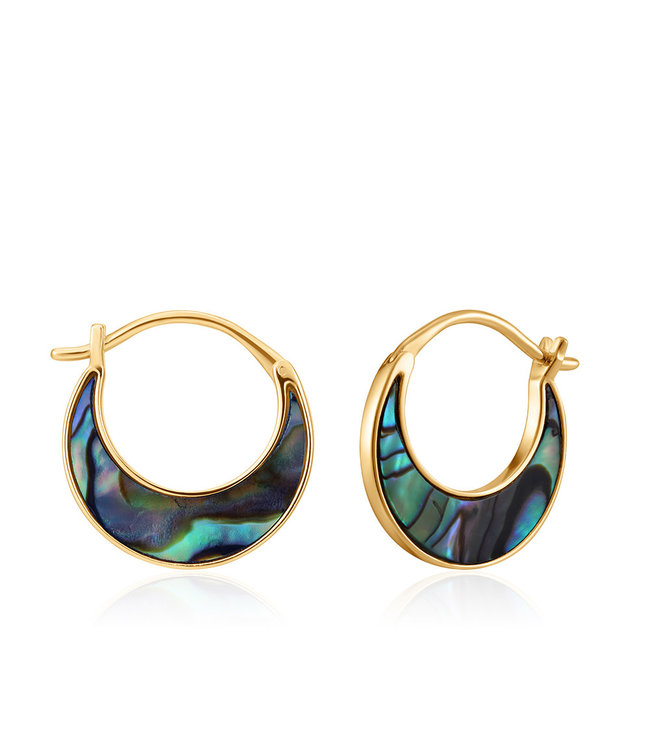 Ania Haie Turning Tides - Tidal Abalone Crescent earrings gold E027-07G