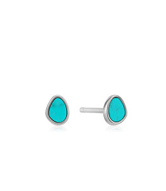 Ania Haie Turning Tides - Tidal Turquoise stud earrings silver E027-04H