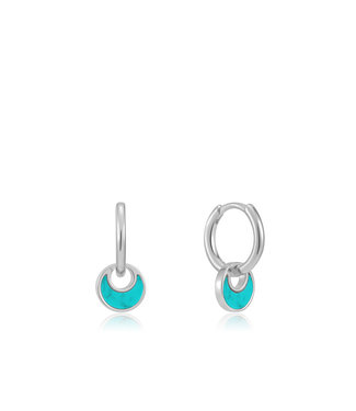 Ania Haie Turning Tides - Tidal Crescent huggie hoops silver E027-06H